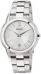 Seiko Dress Analog Silver Dial Mens Watch - SGEF41P1