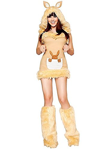 Sexy Kangaroo Cutie Women's Deluxe Costume (Kangaroo Cutie Adult Costume)