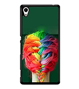 Girl with Colourful Braid 2D Hard Polycarbonate Designer Back Case Cover for Sony Xperia Z4