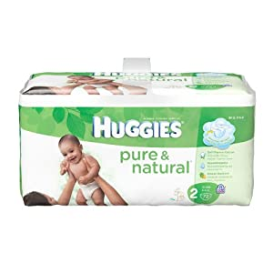 Huggies Pure & Natural Diapers - Size 2 - 72 ct