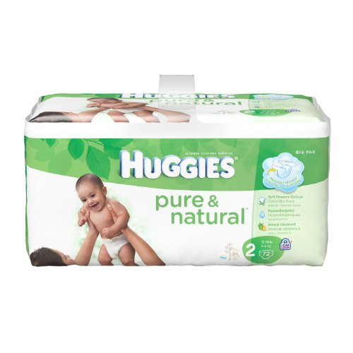 Huggies Pure & Natural Diapers - Size 2 - 72 ct - 1
