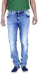 INTEGRITI Men'S Slim Fit Jeans (Attitude-259.S Lnft Stn_36, Blue, 36)
