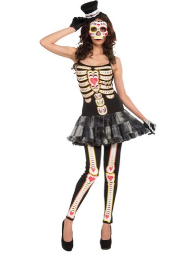 Day Of The Dead Female Adult Costume Adult Womens Costume