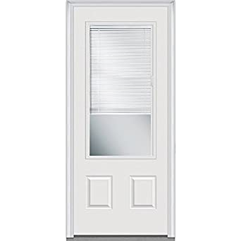 National Door Company Efs607blfs30r Inswing Entry Door Rehung Right Hand Internal Mini Blinds