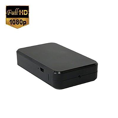 SpygearGadgets® 1080P HD Mini Black Box Hidden Spy Camera / Nanny Cam / Home Surveillance and Security Camera | PC and Mac Compatible | Lifetime Warranty | Model HC450