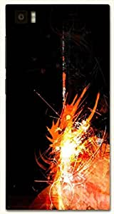 Beautiful multicolor printed protective REBEL mobile back cover for Xiaomi Mi 3 D.No.N-R-3557-XM3