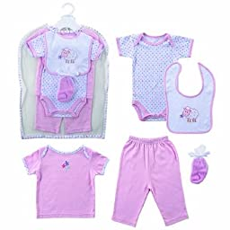 Hudson Baby Gift Collection, 6 Piece, Girl, 0-3 Months