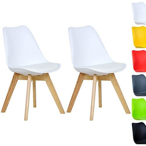 WOLTU-BH29ws-2-2-x-Esszimmersthle-2er-Set-Esszimmerstuhl-Design-Stuhl-Kchenstuhl-Holz-Neu-DesignWei