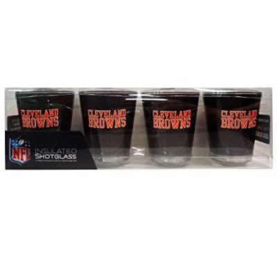 NFL Cleveland Browns Shot Glass Set (4-Piece)