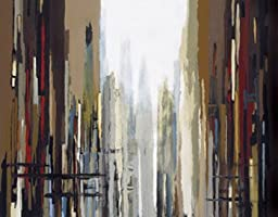 28W x 22H Urban Abstract No. 159 by Gregory Lang - Stretched Canvas w/ BRUSHSTROKES