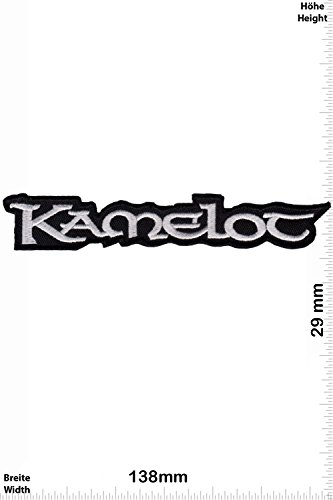Patch - Kamelot - black - silver US Melodic-Power-Metal-Band - MusicPatch - Rock - Chaleco - toppa - applicazione - Ricamato termo-adesivo - Give Away