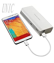 UNIC 15000mah Stylish Dual USB Powerbank/ Portable Mobile Charger UN15K1-White