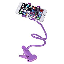 Micomy Universal Long Lazy Flexible Mount Mobile Holder with Snake Style Stand -Purple