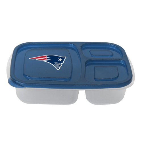 NFL New England Patriots Lunch Container with Lid (New England Patriots Party Ware compare prices)