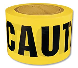 600CC 1000 Caution Barricade Ribbon 3-Inches x 1000-Feet, 2.5-Mil