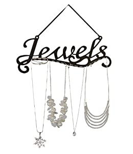 """SIX Schmuckhalter mit """"Jewels""""-Schriftzug aus schwarzem Metall (244-052)"""