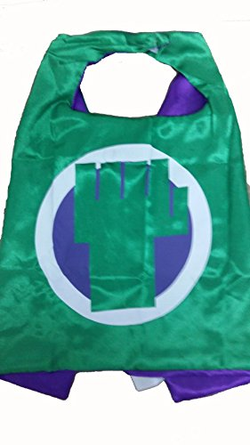 KeepworthSourcing Double Side 55*70CM Superhero capes for Kids Party Children Gifts Hulk