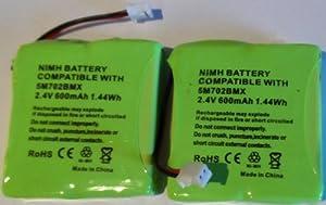 2 x UK Replacement Batteries for BT Verve 450 410 Cordless Phones 5M702BMX 2.4V 600mAh NiMH Single Twin Trio Quad