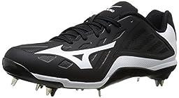 Mizuno Men\'s Heist IQ Baseball Cleat, Black/White, 7.5 M US