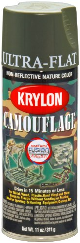 Krylon K04293000 Camouflage with Fusion for Plastic Technology Aerosol Spray Paint, 11-Ounce, Camouflage Olive (Olive Drab Spray Paint compare prices)