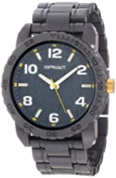 Sprout Men's ST/7000YLGY Link Bracelets Tree Bark Dial Grey Corn Resin Watch