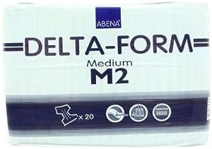 Abena Delta Form Brief, Medium, M2, 20 Count