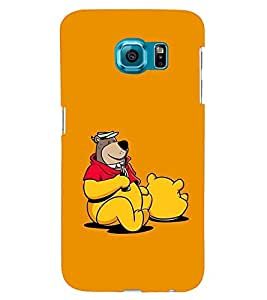 PRINTSWAG BEAR WITH DRINK Designer Back Cover Case for SAMSUNG GALAXY S6