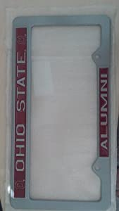 Ohio State Buckeyes Alumni Metal License Plate Frame - Pewter Look Design