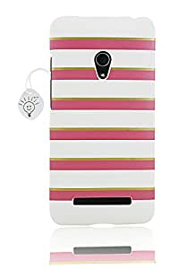 Parallel Universe Elegant Striped Luxury Leather Case for Asus Zenfone 5