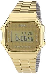 Casio - Vintage - A168WG-9BWEF - Montre Homme - Quartz Digitale - Bracelet en Acier Inoxydable Doré