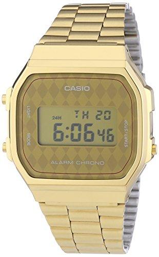 Casio – Vintage – A168WG-9BWEF – Montre Homme – Quartz Digitale – Bracelet en Acier Inoxydable Doré pas cher