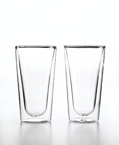 Luigi Bormioli Set of 2 Duos Beverage Glasses, Clear, 15-Ounce