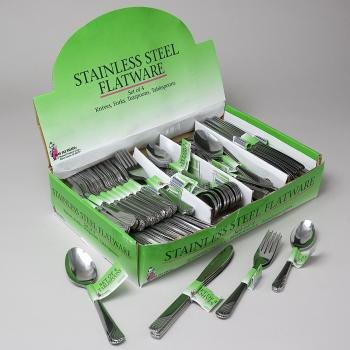 Flatware Stainless 3Pc Asst Knife/Fork/Tbs/Tsp Pdq 108 Sets, Case Pack Of 108