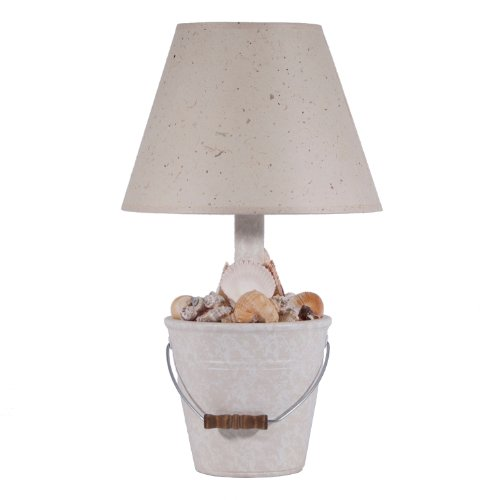 seashell bucket coastal table lamp add some soft lighting to create a. Black Bedroom Furniture Sets. Home Design Ideas