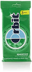 Orbit Sugar Free Gum, Spearmint (3 Pack, 14 Count Each)