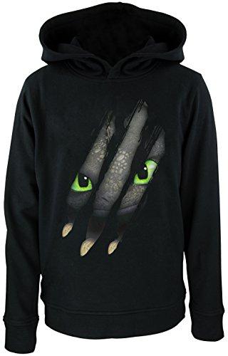 dragons-sweat-shirt-a-capuche-col-rond-garcon-noir-schwarz-10-11-ans