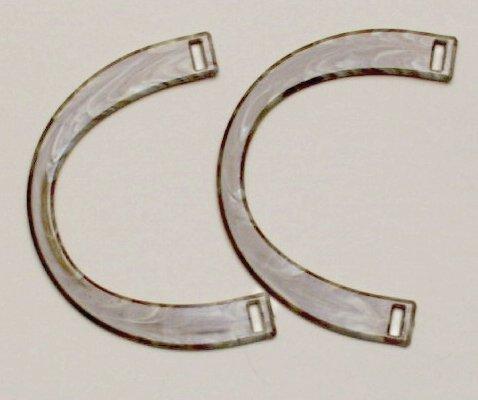 Hoooked Taschengriff horn 1 Paar