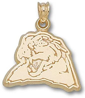 Pittsburgh Panthers Panther Head 1 2 Pendant - 14KT Gold Jewelry by Logo Art