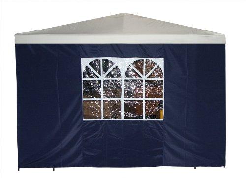 Seitenteil für Pavillon 3×3 Meter mit Fenster, blau günstig online kaufen