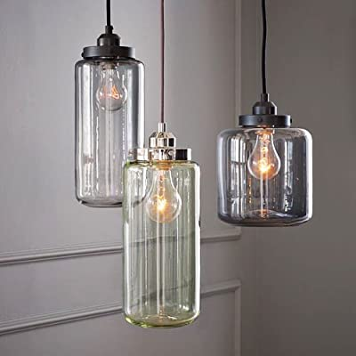 (USA Warehouse) Retro Glass Industrial Flush Mount Ceiling Light Pendant Chandelier Lamp Fixture -/PT# HF983-1754406993