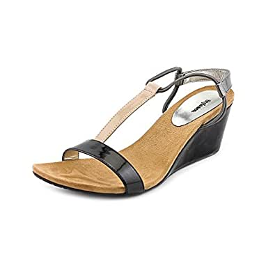 Mulan Open Toe Wedge Sandals in Blk / Gry / Kha Size 9.5: Shoes