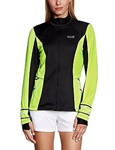 Gore Running Wear Mythos 2.0 Windstopper Soft Shell Lady Women's Jacket Black Black/Neon Yellow Size:34 (EU)