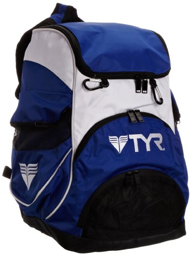 TYR Alliance Team Zaino da Nuoto, Blu Royal/Bianco