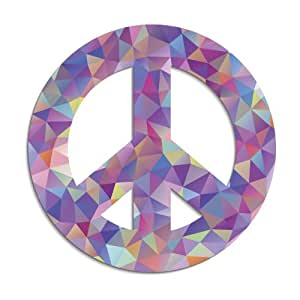 amazoncom abstract geometric art peace sign colorful