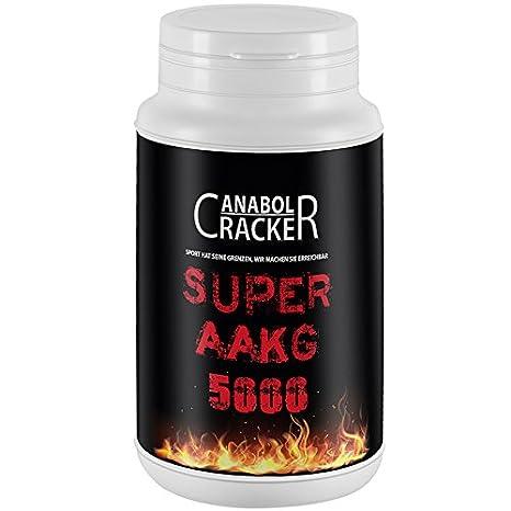 Super AAKG 5000 mg, 200g Dose, L-Arginin Alpha Ketoglutarate, Orangen Geschmack, Aminosäuren Pulver