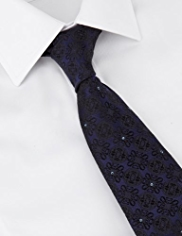 Boxed Autograph Pure Silk Tie with SWAROVSKI® ELEMENTS
