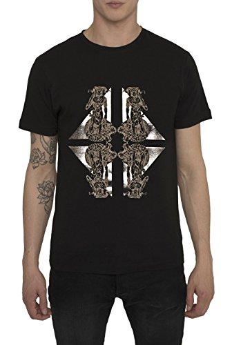 Camisetas-de-Moda-Designer-Vintage-Fashion-Rock-para-Hombre-Camiseta-Negra-con-Estampada-THE-KING-Cuello-redondo-Manga-corta-Algodn-Alta-calidad-Ropa-Urbana-Cool-para-Hombres-S-M-L-XL-XXL