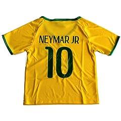 Buy 2014 BRAZIL BRASIL HOME NEYMAR 10 JR FOOTBALL SOCCER KIDS JERSEY FREE BRAZIL GIFT INCLUDED by CBF