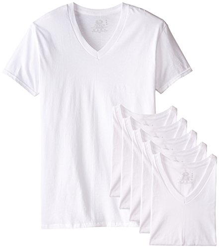 fruit-of-the-loom-mens-6-pack-stay-tucked-v-neck-t-shirtwhitemedium
