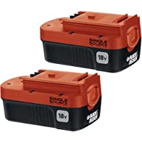 2-Pack Black & Decker 18-volt Nicd Battery for Outdoor Power Tools - Black